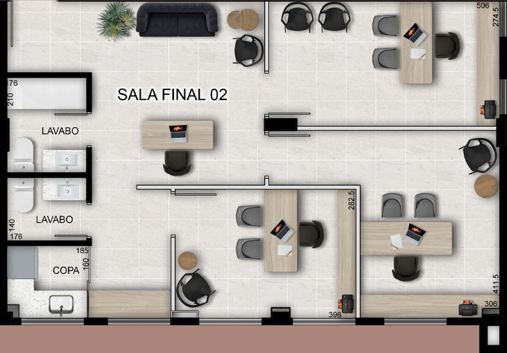 Sala tipo 2